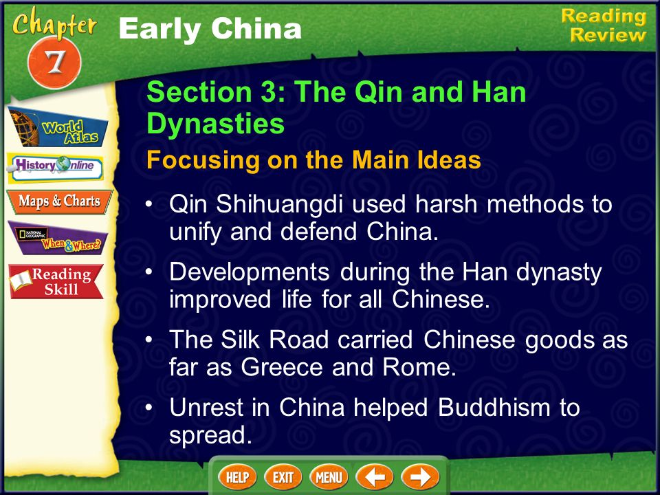 Section 3: The Qin and Han Dynasties