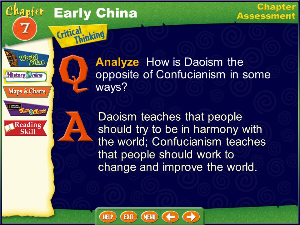Early China Analyze How is Daoism the opposite of Confucianism in some ways