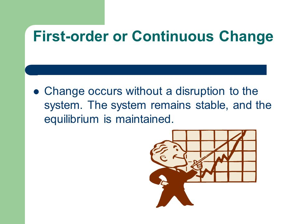 First-order or Continuous Change