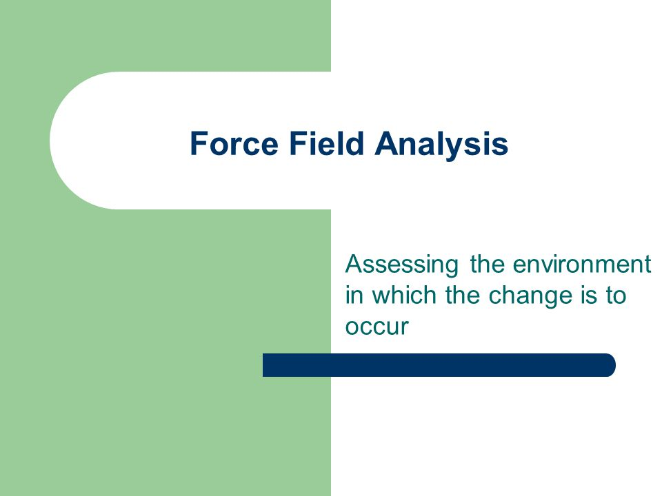 Assessing the environment in which the change is to occur