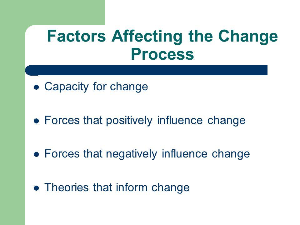 Factors Affecting the Change Process