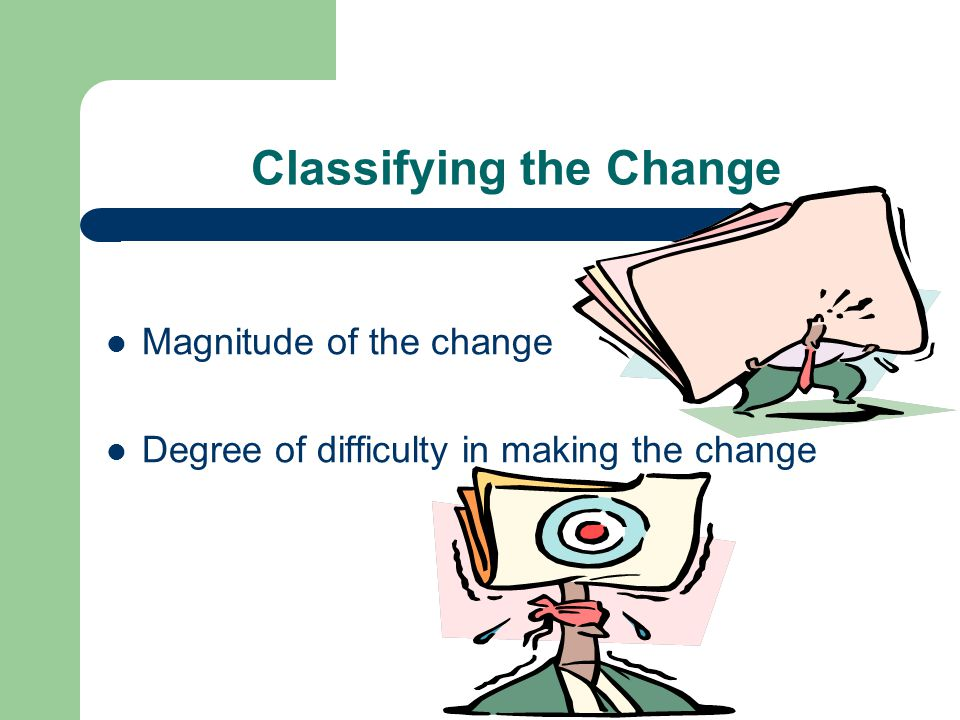 Classifying the Change
