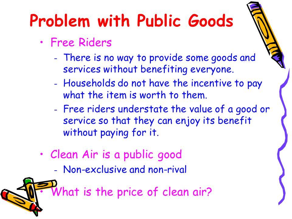 Problem with Public Goods