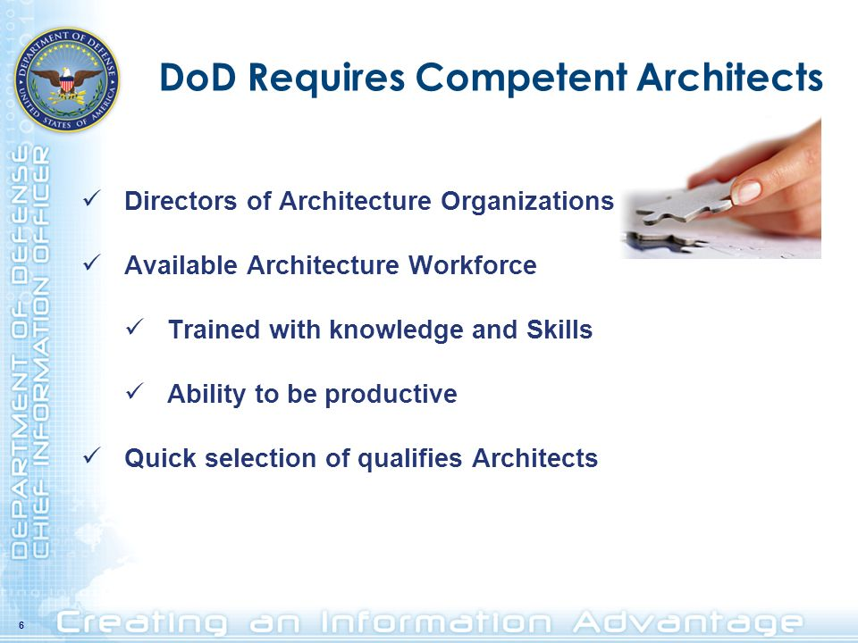 DoD Requires Competent Architects