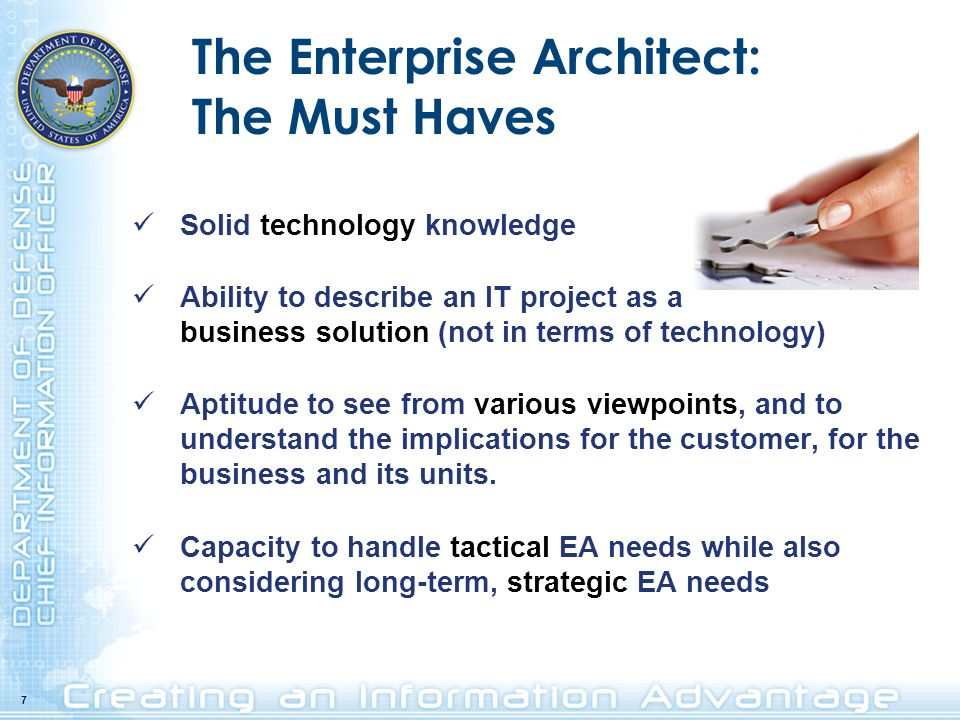 The Enterprise Architect: The Must Haves