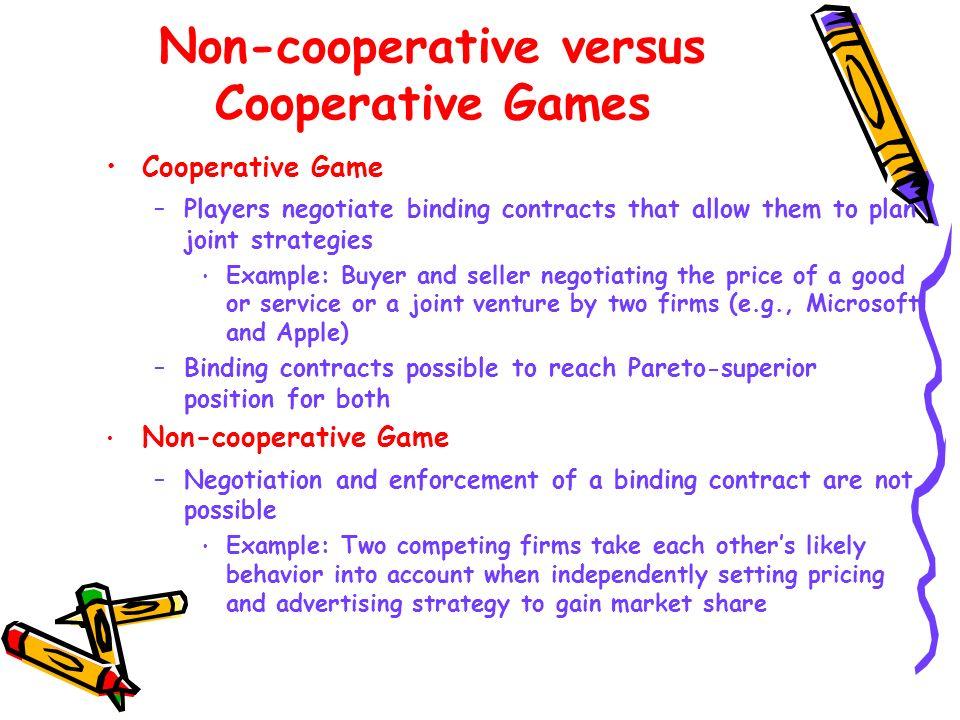 Non-cooperative versus Cooperative Games
