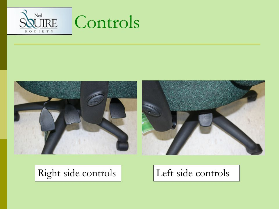 Controls Right side controls Left side controls
