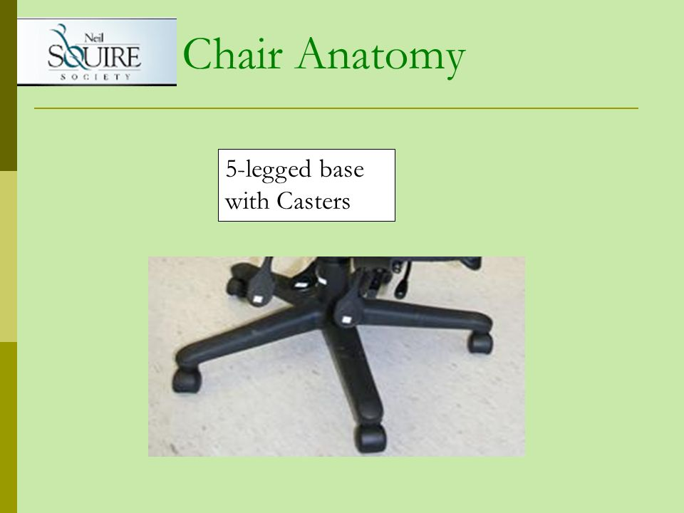 Chair Anatomy 5-legged base with Casters