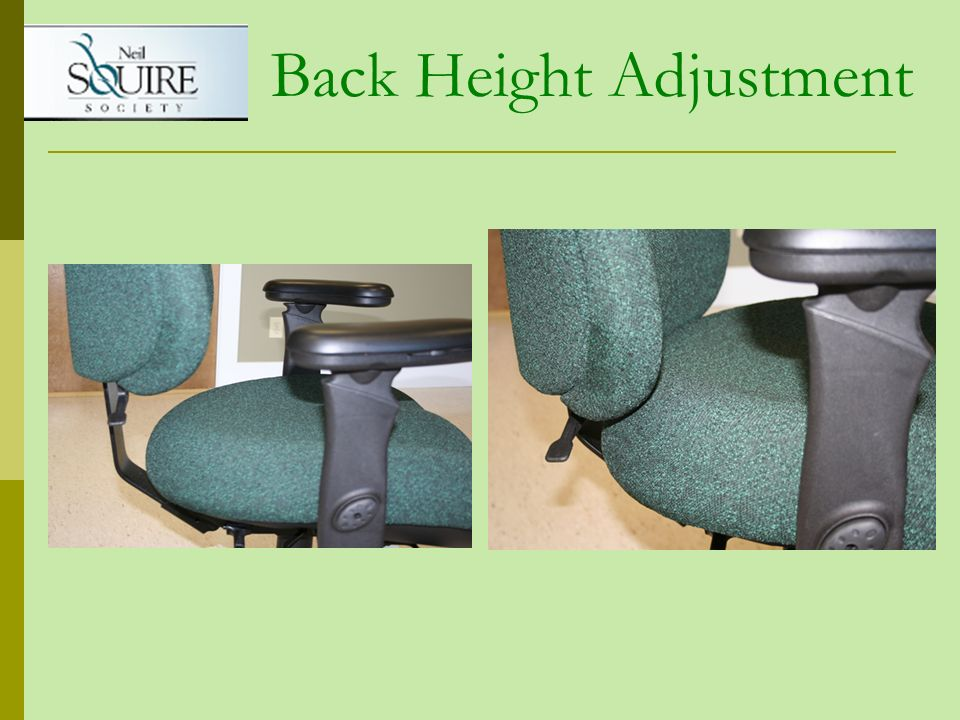 Back Height Adjustment