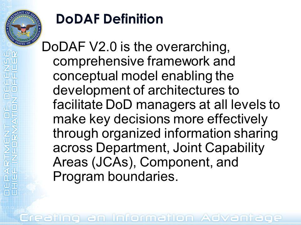 DoDAF Definition