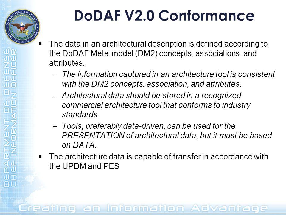DoDAF V2.0 Conformance