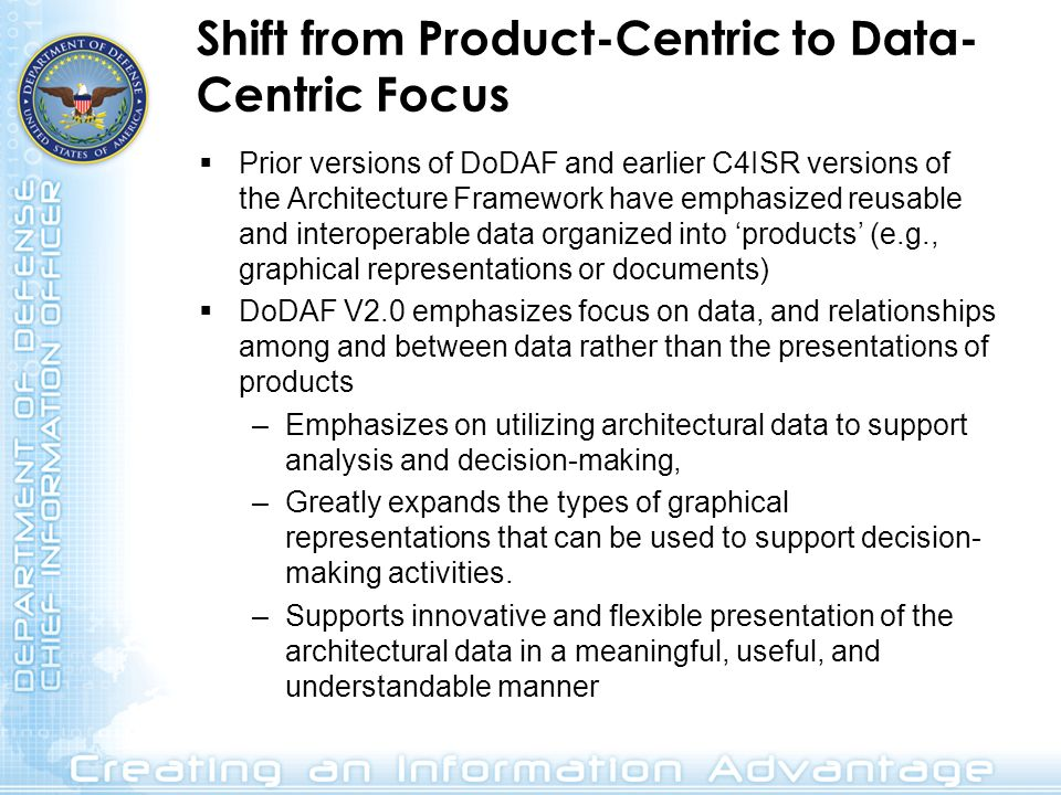 Shift from Product-Centric to Data-Centric Focus
