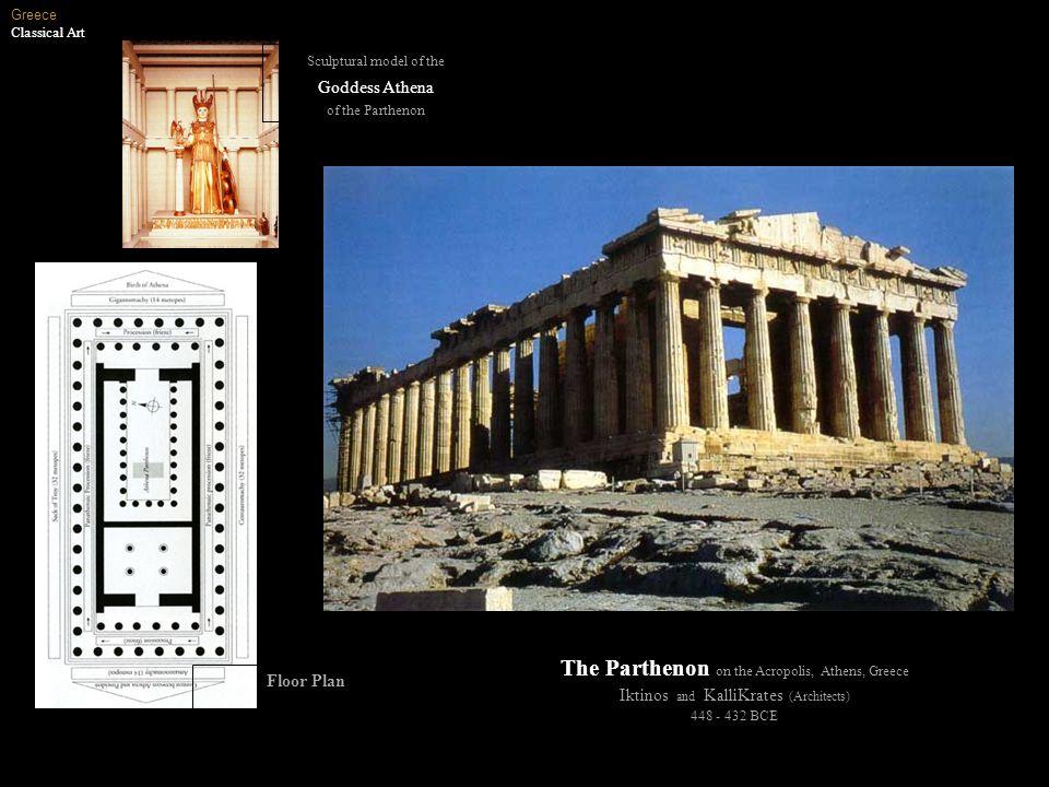 The Parthenon on the Acropolis, Athens, Greece
