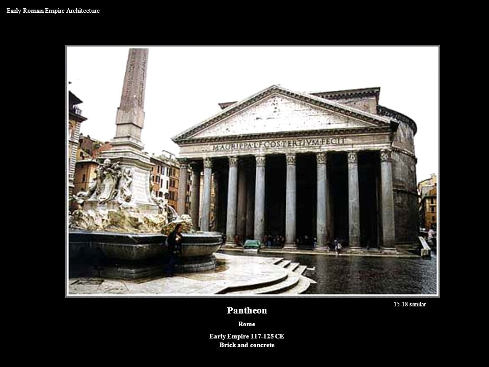 Pantheon Early Roman Empire Architecture Rome Early Empire 117-125 CE