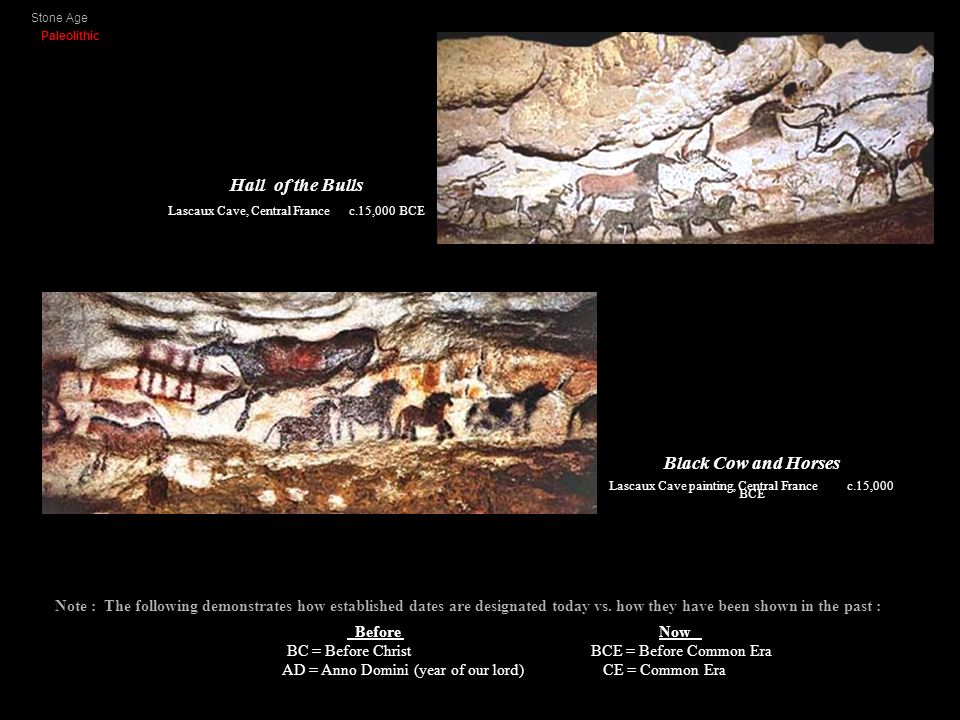 Stone Age Paleolithic Hall of the Bulls Black Cow and Horses