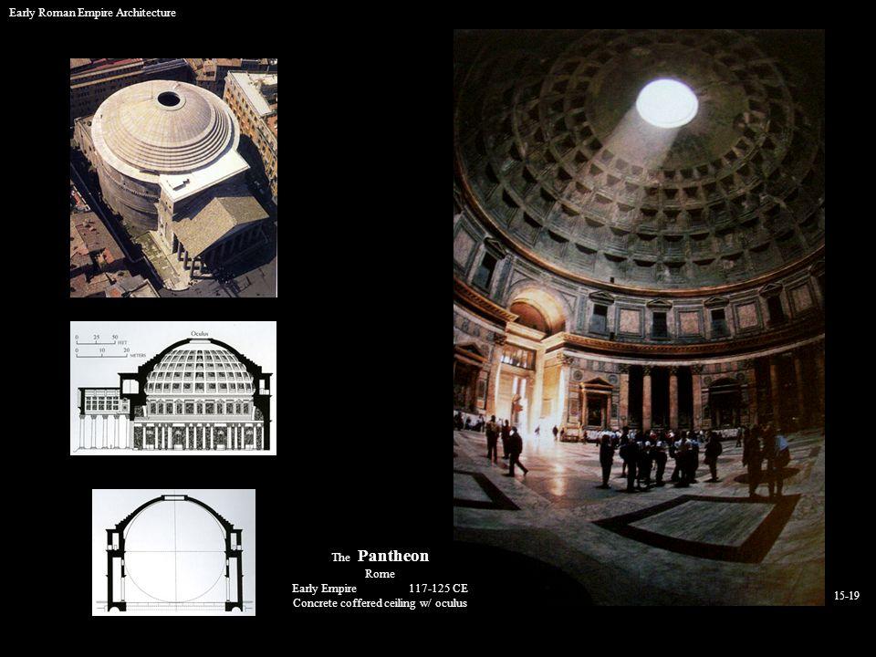 Concrete coffered ceiling w/ oculus