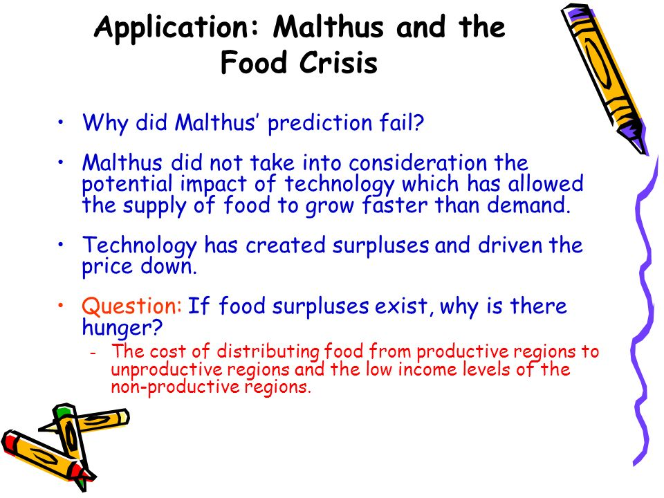 Application: Malthus and the Food Crisis