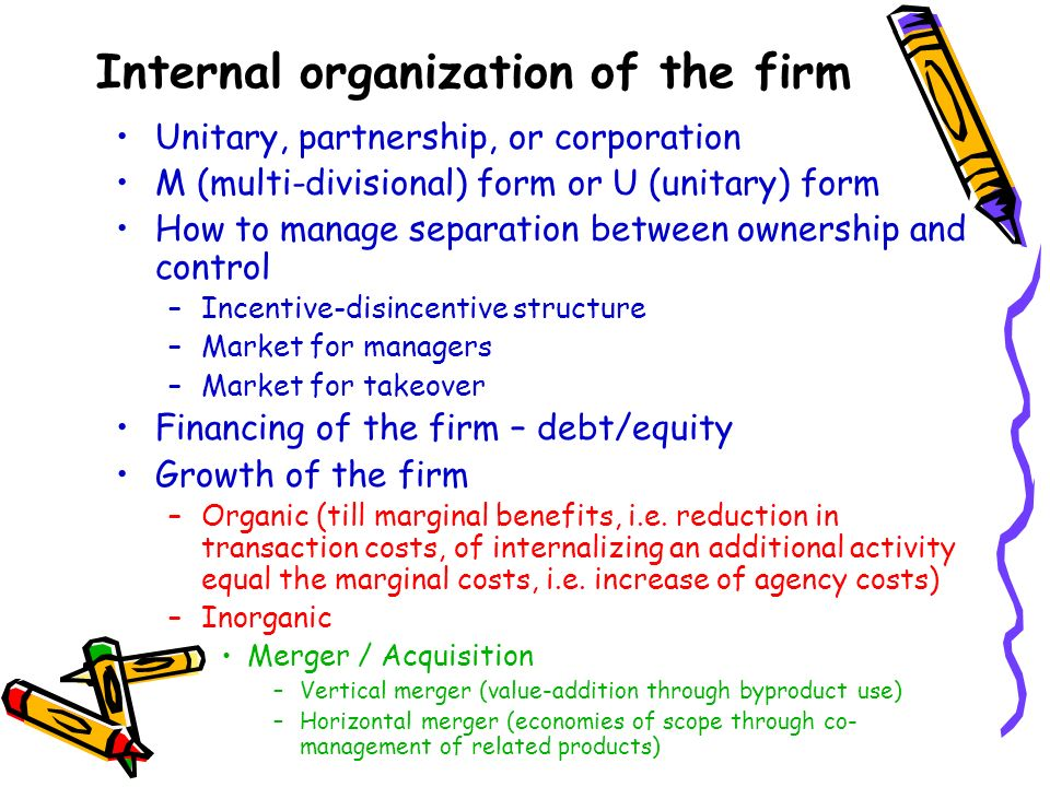 Internal organization of the firm