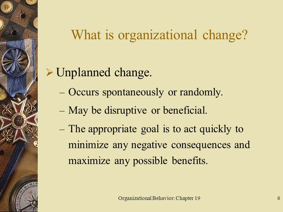 What is organizational change