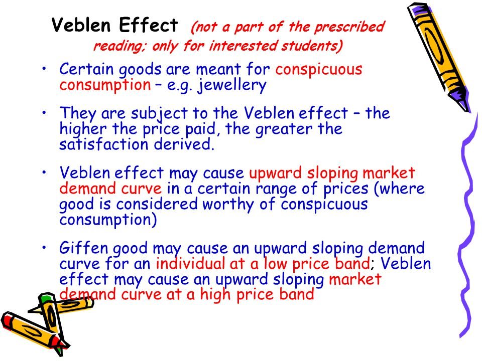 Veblen Effect (not a part of the prescribed reading; only for interested students)