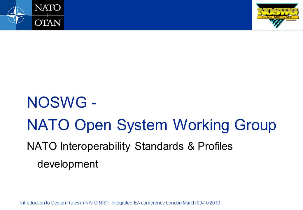 NATO Interoperability Standards & Profiles development