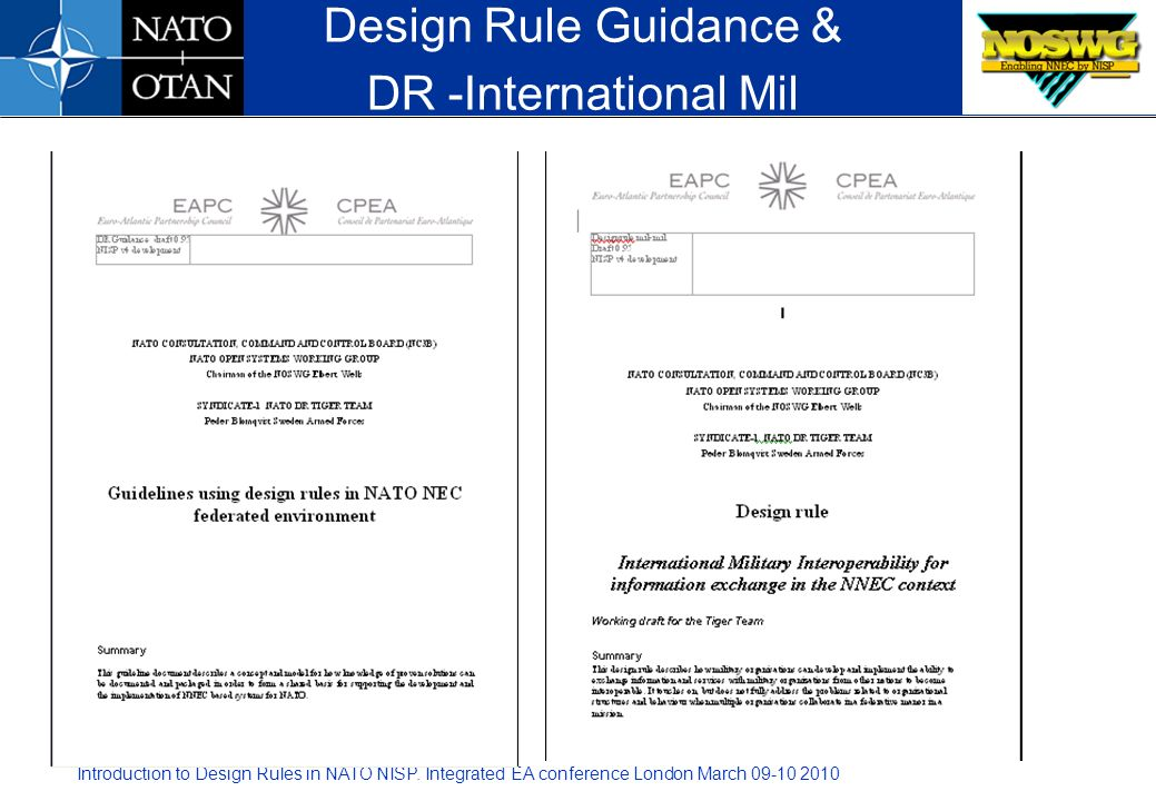 Design Rule Guidance & DR -International Mil