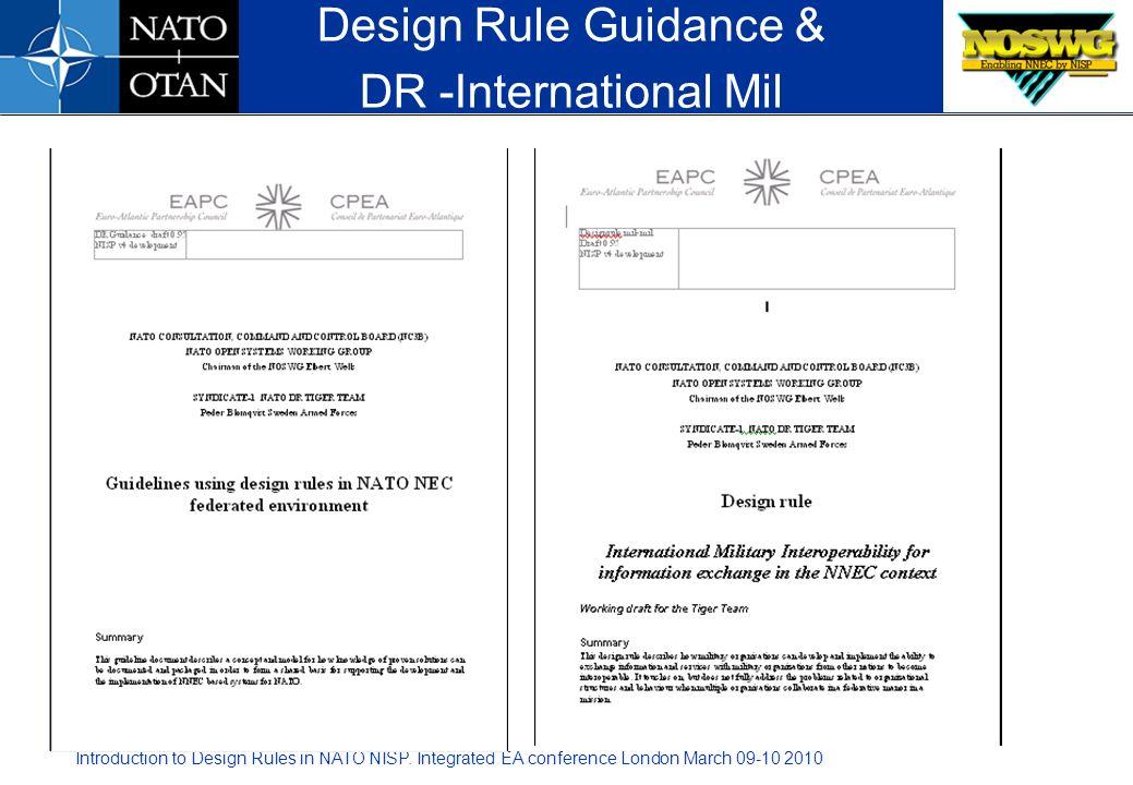 Design Rule Guidance & DR -International Mil