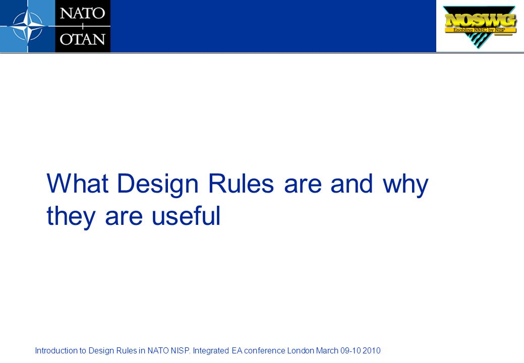What Design Rules are and why they are useful
