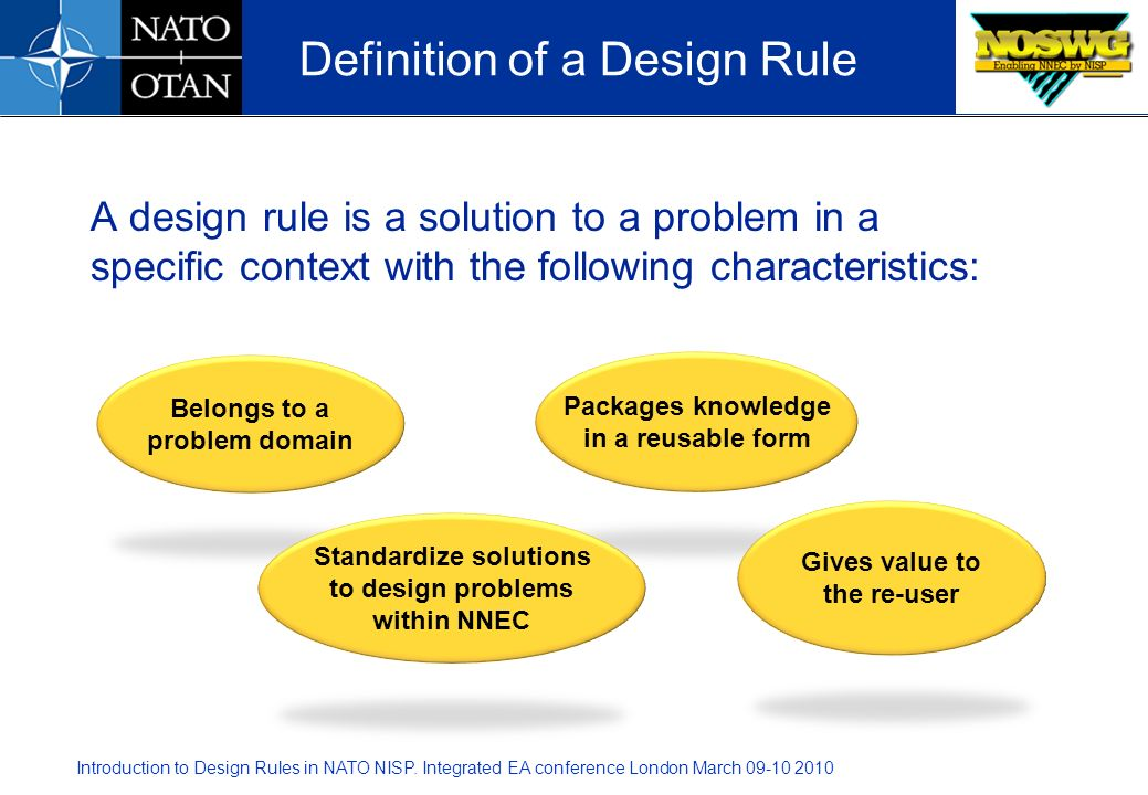 Definition of a Design Rule