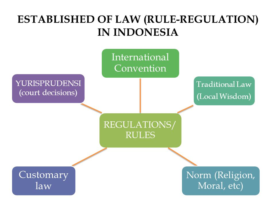 ESTABLISHED OF LAW (RULE-REGULATION) IN INDONESIA