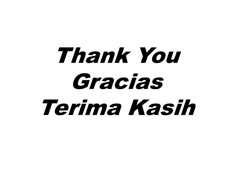 Thank You Gracias Terima Kasih