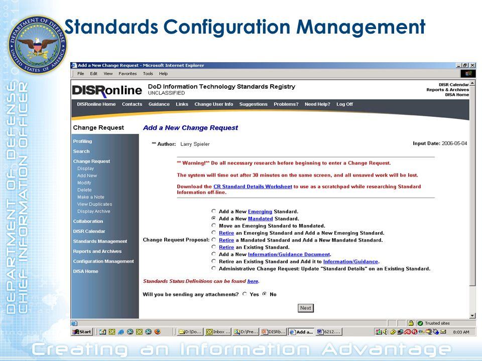 Standards Configuration Management