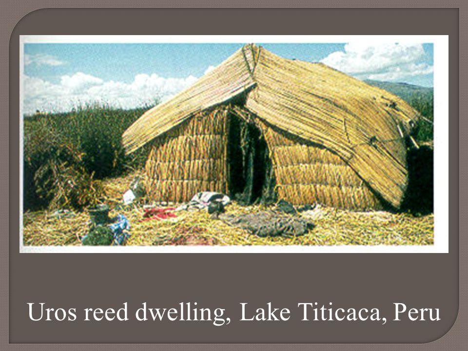 Uros reed dwelling, Lake Titicaca, Peru
