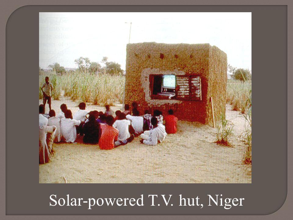 Solar-powered T.V. hut, Niger