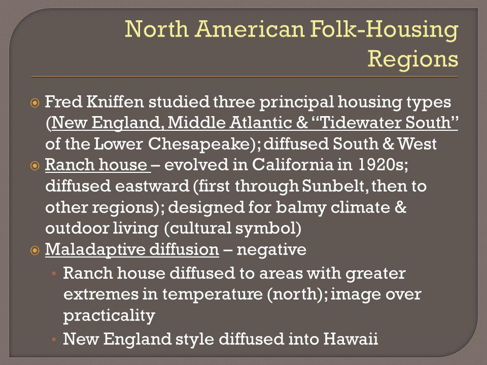 North American Folk-Housing Regions