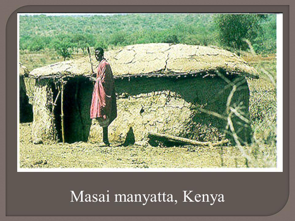 Masai manyatta, Kenya