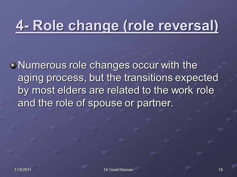 4- Role change (role reversal)