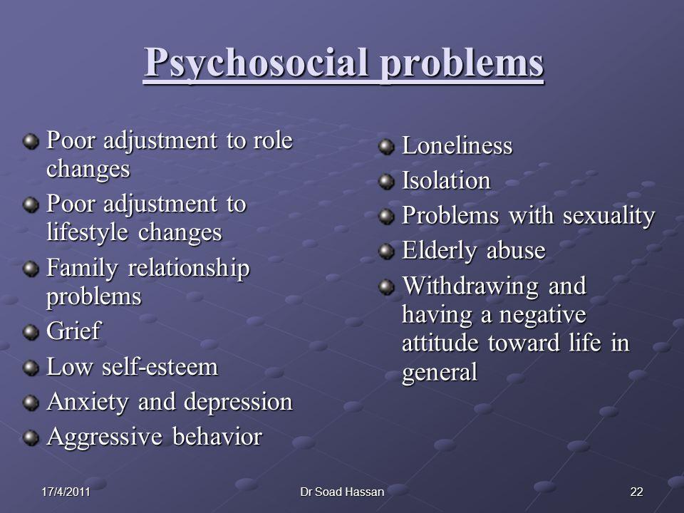 Psychosocial problems
