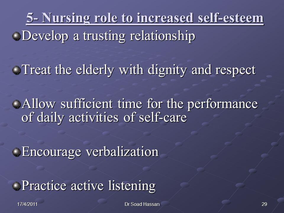 5- Nursing role to increased self-esteem