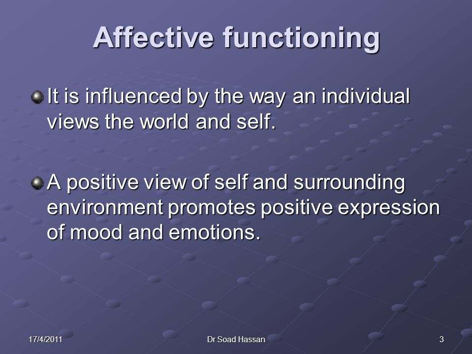 Affective functioning