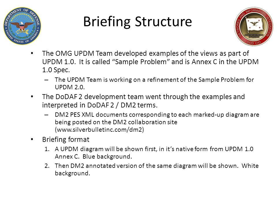 Briefing Structure
