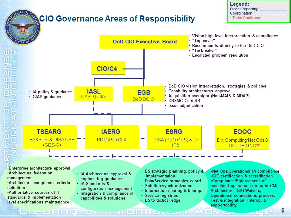 CIO Governance Areas of Responsibility