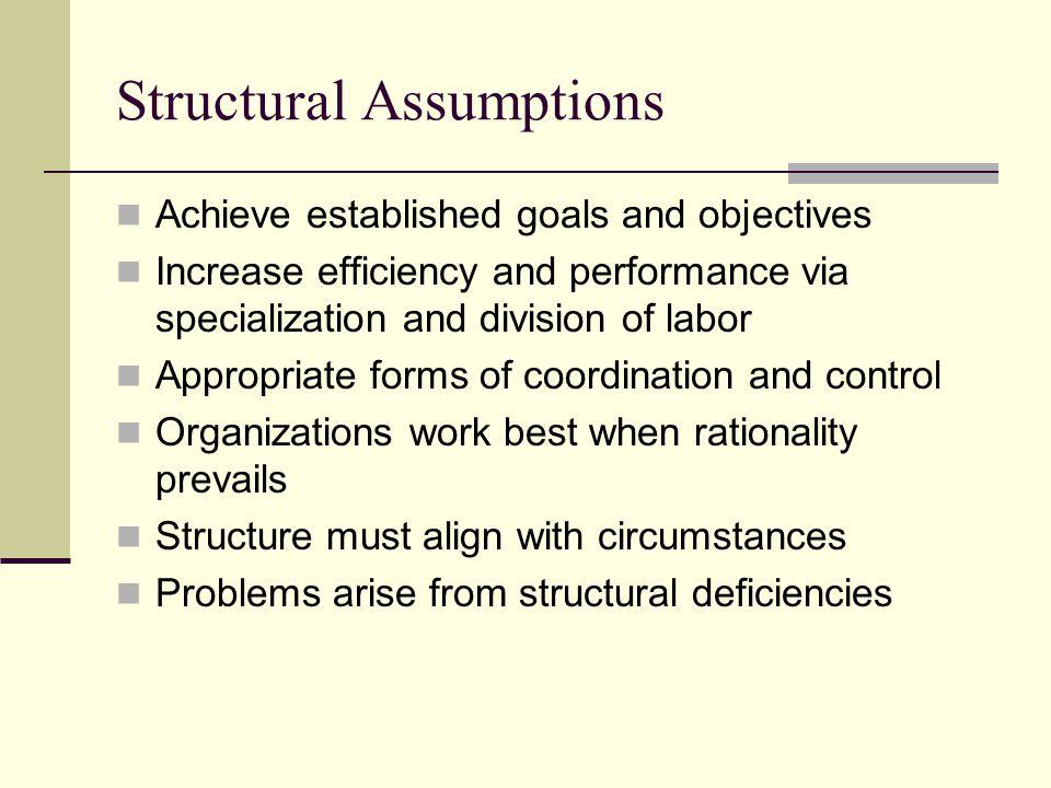 Structural Assumptions