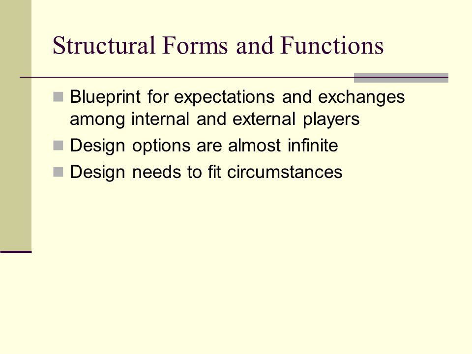 Structural Forms and Functions