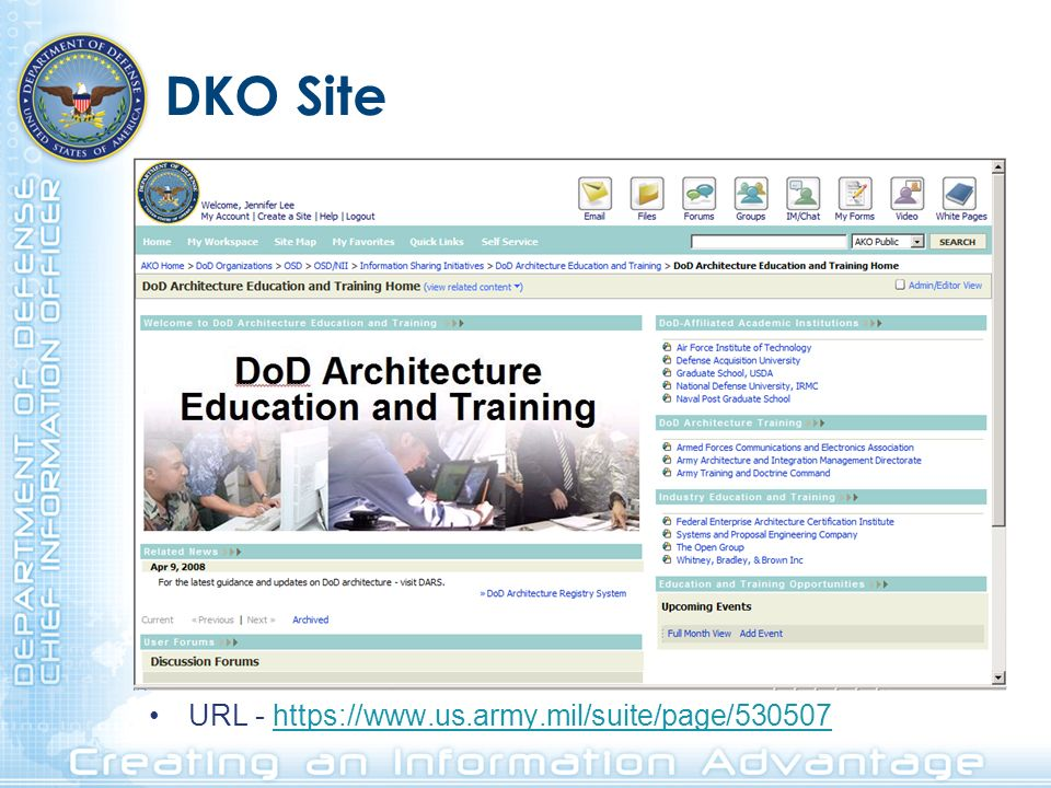 DKO Site URL - https://www.us.army.mil/suite/page/530507