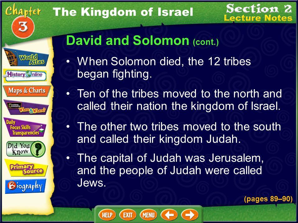 David and Solomon (cont.)