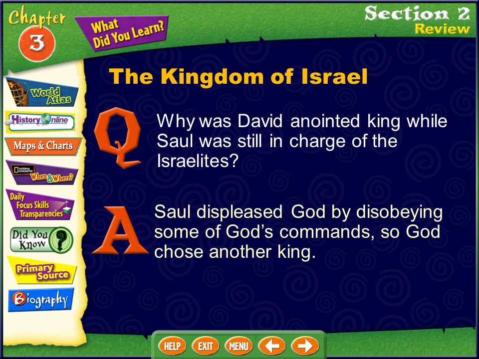 The Kingdom of Israel Why was David anointed king while Saul was still in charge of the Israelites