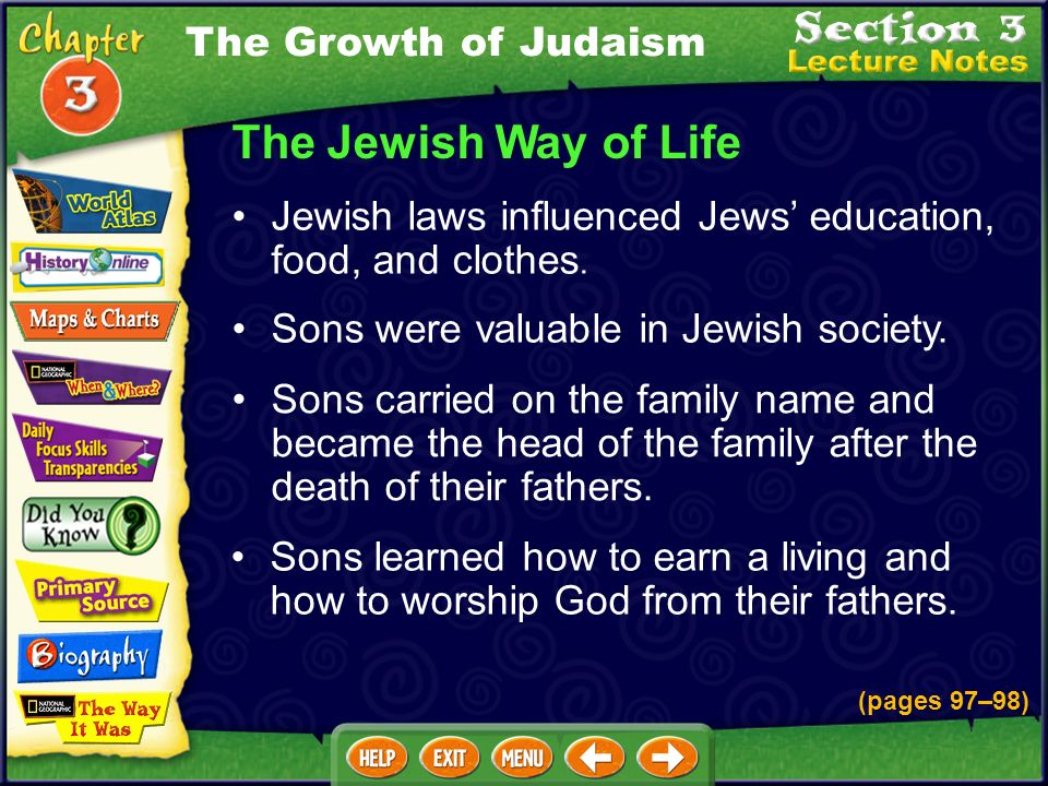 The Jewish Way of Life The Growth of Judaism