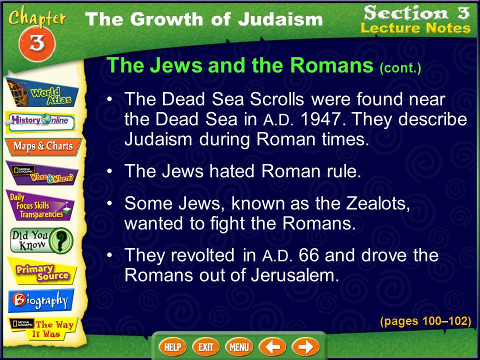 The Jews and the Romans (cont.)