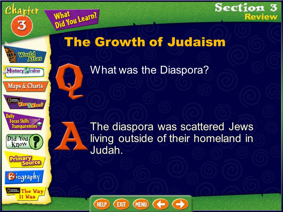 The Growth of Judaism What was the Diaspora